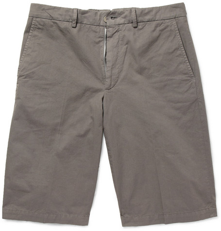 Lanvin Washed Cotton-Twill Shorts