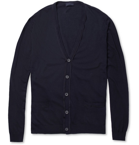 Lanvin Grosgrain-Trimmed Cotton and Wool-Blend Cardigan