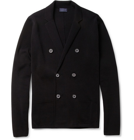 Lanvin Double-Breasted Knitted Cotton Cardigan