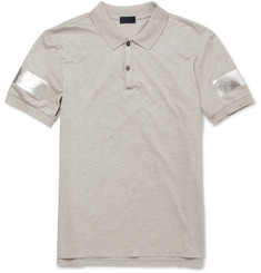 Lanvin Metallic-Print Cotton-Piqué Polo Shirt