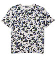 Lanvin Dot-Print Cotton Crew Neck T-Shirt