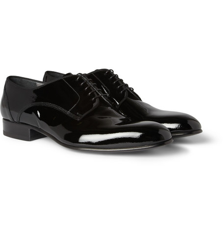 Lanvin Patent-Leather Derby Shoes
