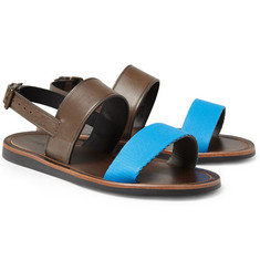 Lanvin Leather and Canvas Sandals