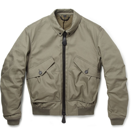 Burberry Prorsum Quilted Cotton-Blend Bomber Jacket
