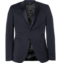Burberry Prorsum Navy Slim-Fit Wool Tuxedo Jacket