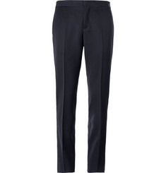 Burberry Prorsum Navy Slim-Fit Wool Tuxedo Trousers
