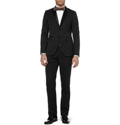 Burberry Prorsum Black Wool Tuxedo Trousers