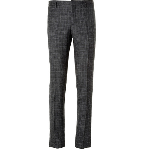 Burberry Prorsum Grey Wool, Silk and Linen-Blend Suit Trousers