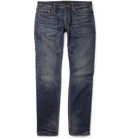 Burberry Prorsum Slim-Fit Washed-Denim Jeans