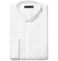 Burberry Prorsum White Slim-Fit Bib-Front Cotton Tuxedo Shirt