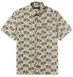Burberry Prorsum Slim-Fit Short-Sleeved Printed Cotton Shirt
