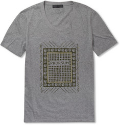 Burberry Prorsum Printed Cotton Crew Neck T-Shirt
