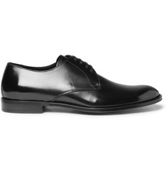 Dolce & Gabbana High-Shine Leather Derby Shoes