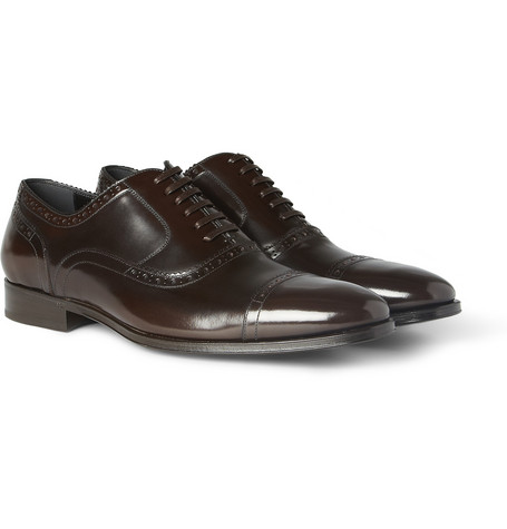 Dolce & Gabbana High-Shine Leather Oxford Brogues