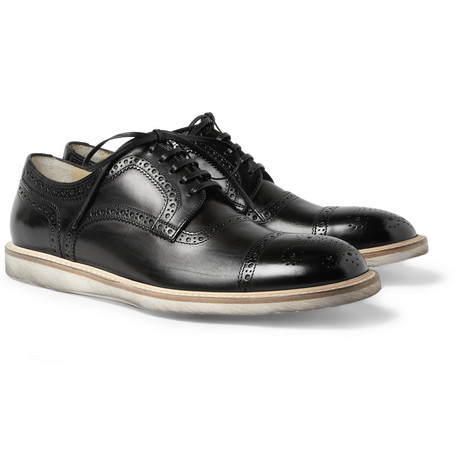 Dolce & Gabbana Rubber-Sole Leather Brogues