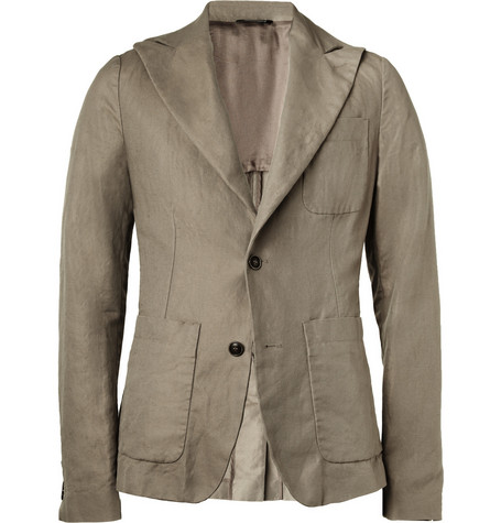 Dolce & Gabbana Slim-Fit Linen and Cotton-Blend Blazer