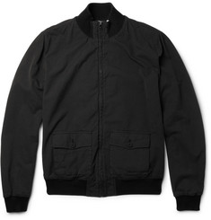 Dolce & Gabbana Lightweight Textured Cotton-Blend Bomber Jacket
