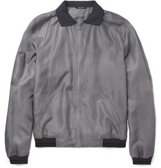 Dolce & Gabbana Lightweight Silk-Blend Bomber Jacket