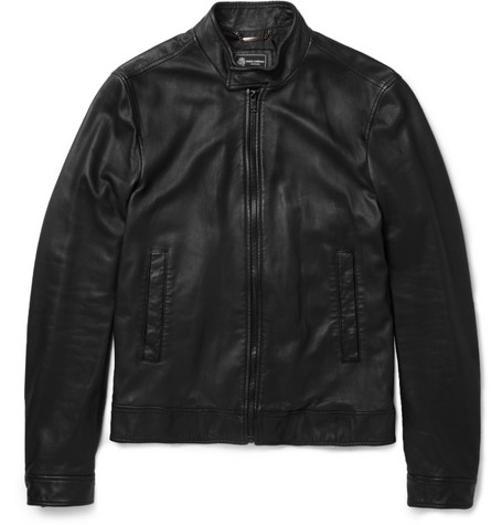Dolce & Gabbana Lightweight Leather Bomber Jacket
