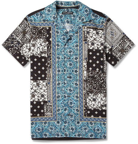 Dolce & Gabbana Printed Cotton Short-Sleeve Shirt
