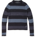 Dolce & Gabbana - Striped Crochet-Knit Cotton Sweater