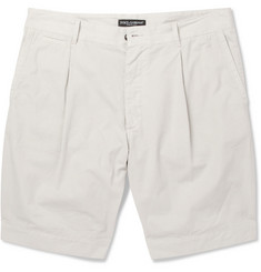 Dolce & Gabbana Pleated Cotton Shorts