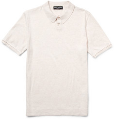 Dolce & Gabbana Knitted Cotton Polo Shirt