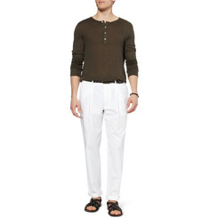 Dolce & Gabbana Pleated Cotton Chinos