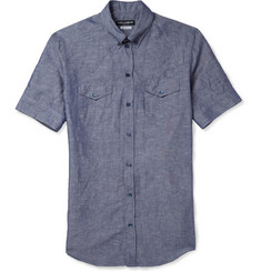 Dolce & Gabbana Linen and Cotton-Blend Chambray Shirt