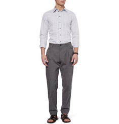 Dolce & Gabbana Slim-Fit Pleat-Front Cotton Shirt