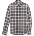 Dolce & Gabbana - Slim-Fit Cotton and Linen-Blend Check Shirt