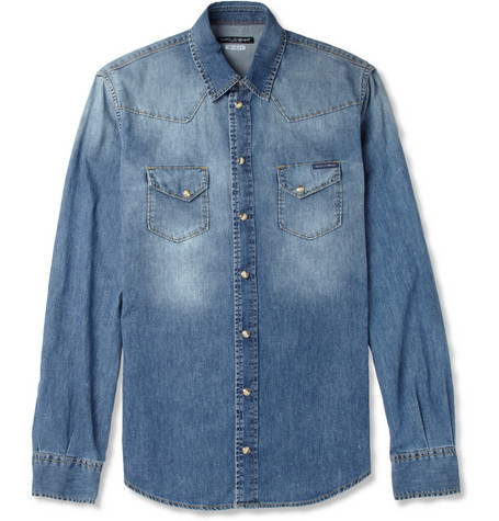 Dolce & Gabbana Washed-Denim Shirt