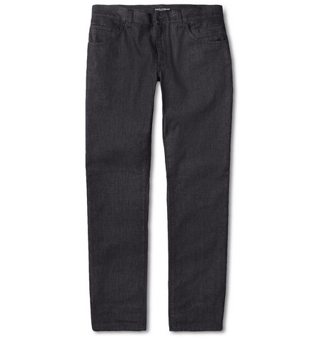 Dolce & Gabbana Green-Fit Tapered-Fit Denim Jeans