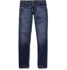 Dolce & Gabbana Gold Slim-Fit Washed-Denim Jeans