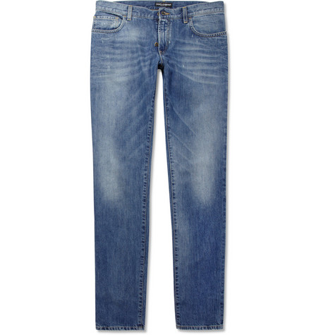 Dolce & Gabbana Gold-Fit Slim Washed Denim Jeans