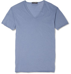 Dolce & Gabbana Fine-Cotton V-Neck T-Shirt