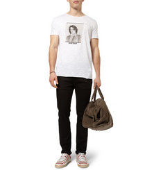 Dolce & Gabbana David Bowie Printed Slub Cotton-Jersey T-Shirt