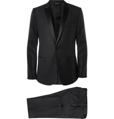 Dolce & Gabbana Black Gold-Fit Wool and Silk-Blend Tuxedo