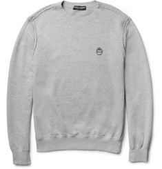 Dolce & Gabbana Raw-Edge Loopback-Cotton Sweatshirt