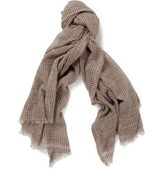 Dolce & Gabbana Check Cotton Scarf