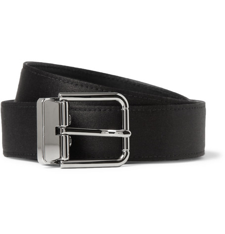 Dolce & Gabbana Satin and Leather Belt