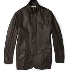 Loro Piana Roadster Deerskin Leather Jacket