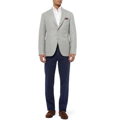 Loro Piana Unstructured Cashmere and Silk-Blend Packaway Blazer