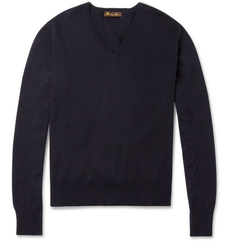 Loro Piana Silk and Cashmere-Blend V-Neck Sweater