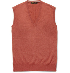 Loro Piana Sleeveless Silk and Cashmere-Blend Sweater