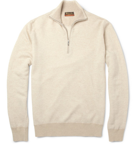 Loro Piana Roadster Zip-Collar Cashmere Sweater
