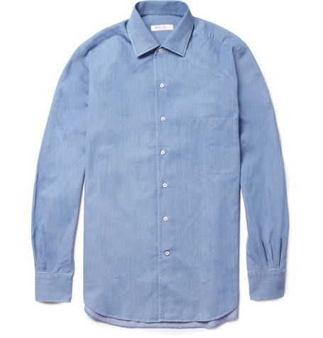 Loro Piana Washed-Denim Shirt