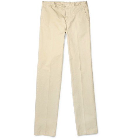 Loro Piana Cotton-Blend Twill Trousers