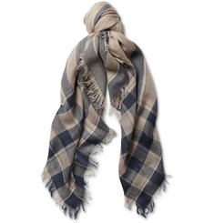 Loro Piana Lightweight Cashmere and Silk-Blend Scarf