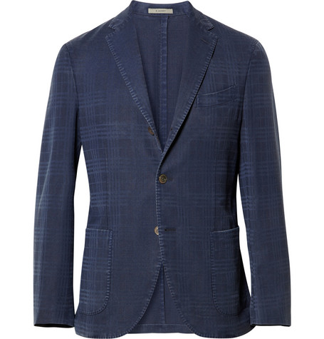 Boglioli Check Unstructured Wool Blazer